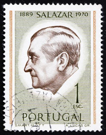 António Salazar governou Portugal de maneira ditatorial de 1933 a 1968.*