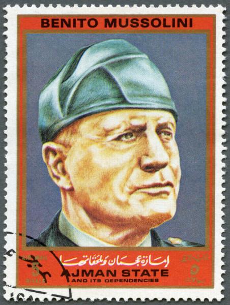 Benito Mussolini, líder do fascismo, tornou-se primeiro-ministro italiano durante a Marcha sobre Roma, em 1922.*