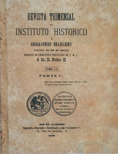 Capa da revista trimestral do Instituto Histórico e Geográfico Brasileiro (IHGB) *