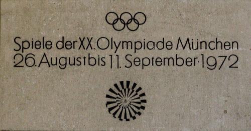 Cartaz de divulgação dos Jogos Olímpicos de Munique*