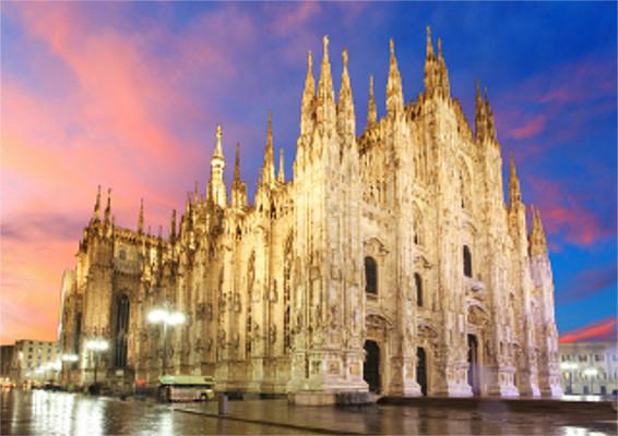 Catedral de Milão, na Itália, um dos símbolos da arquitetura gótica