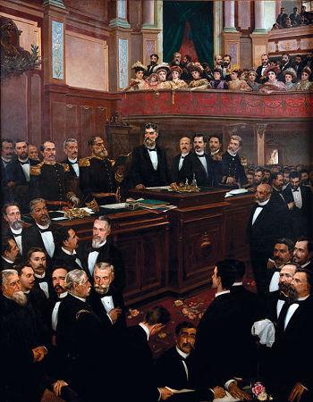 Cerimônia de promulgação da Constituição republicana de 1891