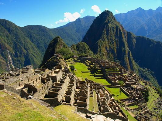 Cidade de Machu Picchu, no Peru. Principal patrimônio da civilização inca