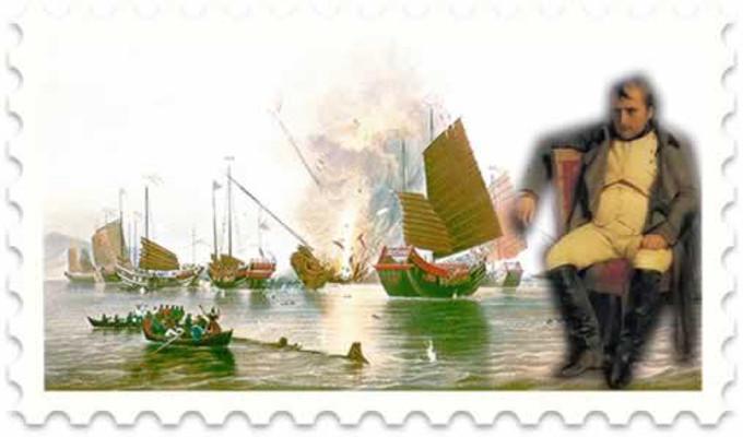 Em 1803, a marinha francesa de Napoleão sofreu uma visível derrocada empreendida pela superior marinha inglesa