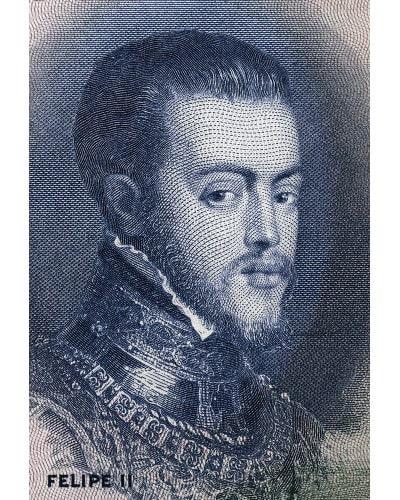 Filipe II da Espanha disputou o trono de Portugal e foi coroado rei do país em 1580, tornando-se também Filipe I de Portugal.