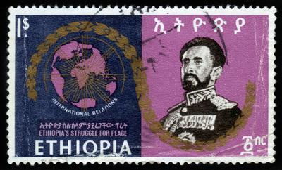 Haile Selassié, o Rastafári, imperador da Etiópia.*