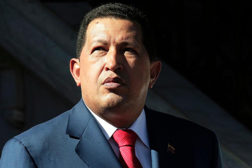 Hugo Chávez participou de uma tentativa de golpe contra Carlos Pérez em 1992, foi eleito presidente em 1998 e governou a Venezuela de 1999 a 2013.*