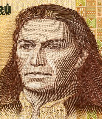 Imagem do líder inca Tupac Amaru *