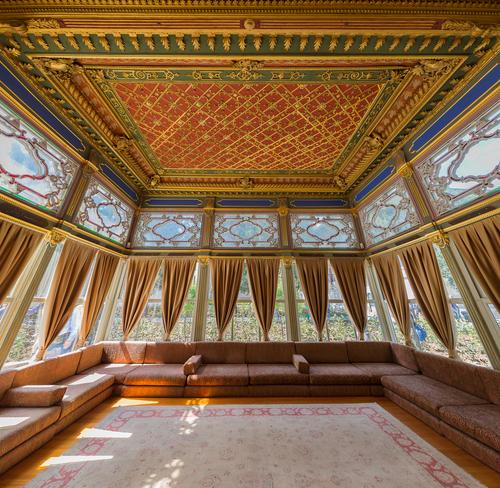 Interior do Palácio Topkapi, Istambul, na Turquia *