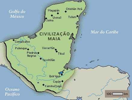 Mapa do Império Maia