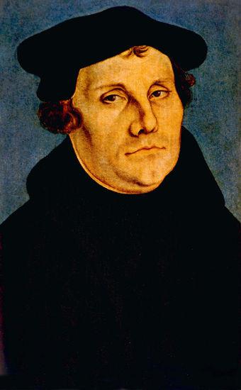 Martinho Lutero, o grande nome da Reforma Protestante, ficou famoso por escrever as 95 teses.
