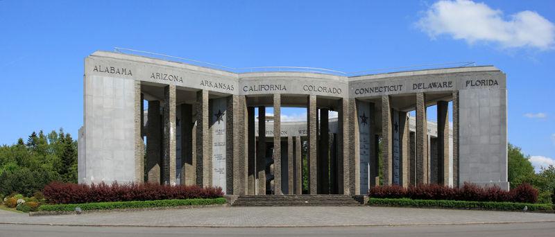 Memorial em homenagem aos soldados que lutaram na defesa de Bastogne durante a Batalha das Ardenas