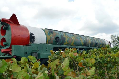 Míssil modelo R-12, desativado, em Havana – Cuba *
