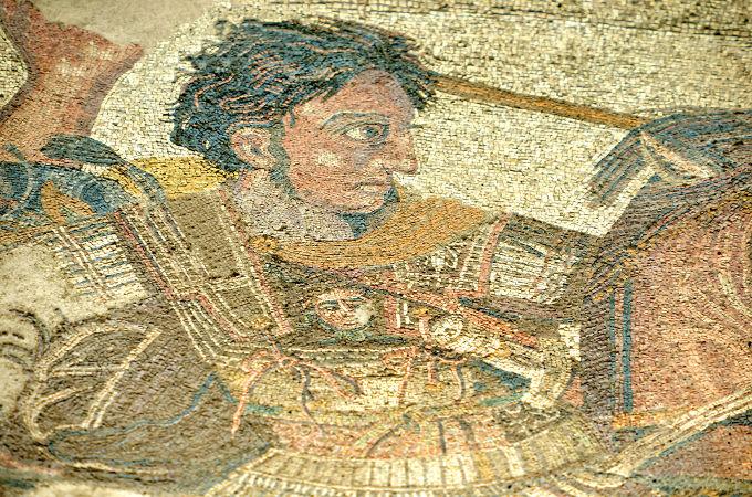 Mosaico de Alexandre, o Grande, produzido na antiga cidade romana de Pompeia*