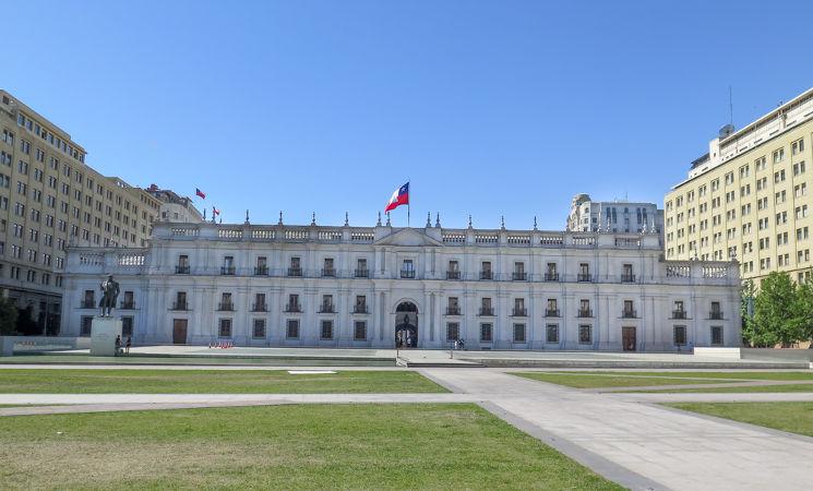 O palácio presidencial La Moneda foi alvo do ataque contra o presidente Salvador Allende em 1973