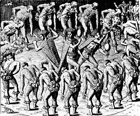 O ritual antropofágico era comum entre os índios tupinambás no Brasil *