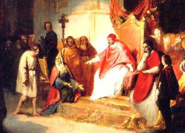 O Sacro Imperador Henrique IV diante do Papa Gregório VII