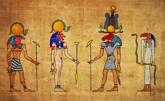 Os egípcios estabeleceram uma rica civilização às margens do Rio Nilo