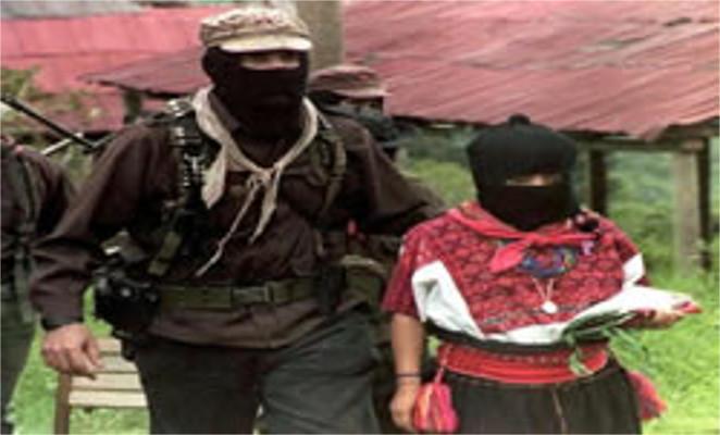 Os zapatistas utilizam máscaras para evitar a identificação