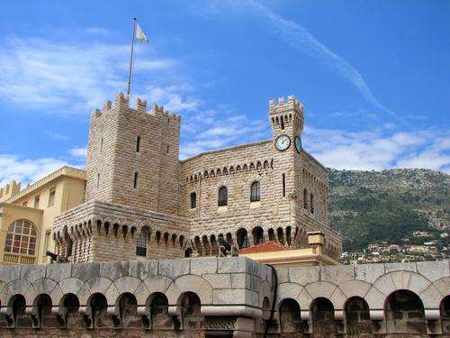Palácio de Mônaco, construído em 1191, durante a Baixa Idade Média