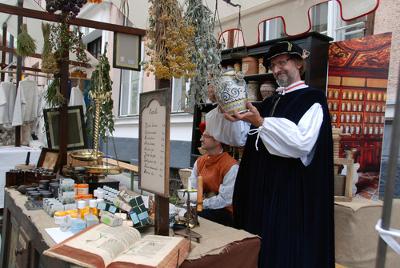 Reconstrução de uma feira medieval na Eslovênia *