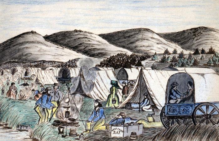 Representação das diligências que levaram milhares de cidadãos americanos para o oeste do país no século XIX