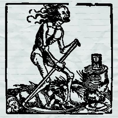 """Representação da """"Morte"""" típica da Baixa Idade Média"""