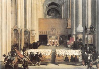 Reunião do concílio na Catedral de Trento