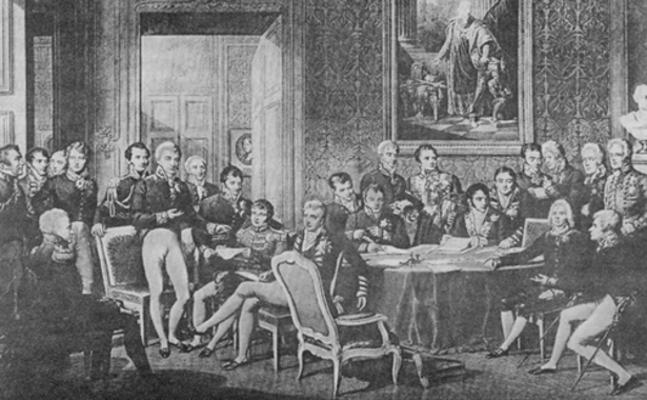 Reunião dos representantes do Congresso de Viena em 1814.*