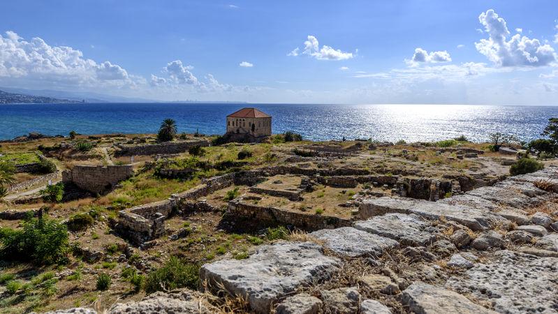 Ruínas da antiga cidade fenícia de Biblos