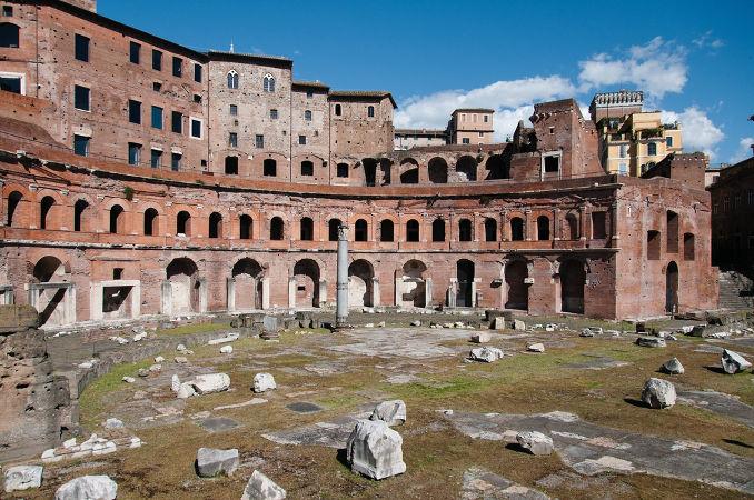 Ruínas do mercado romano, localizada na cidade de Roma, na Itália