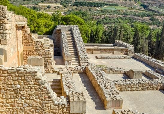 Ruínas do palácio de Cnossos