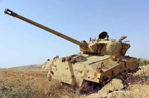 Tanque israelense destruído durante a Guerra dos Seis Dias