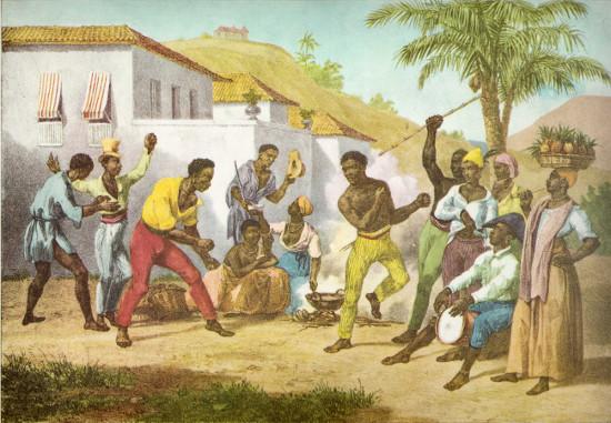Tela Jogo de Capoeira, de Johann Moritz Rugendas (1802-1858)