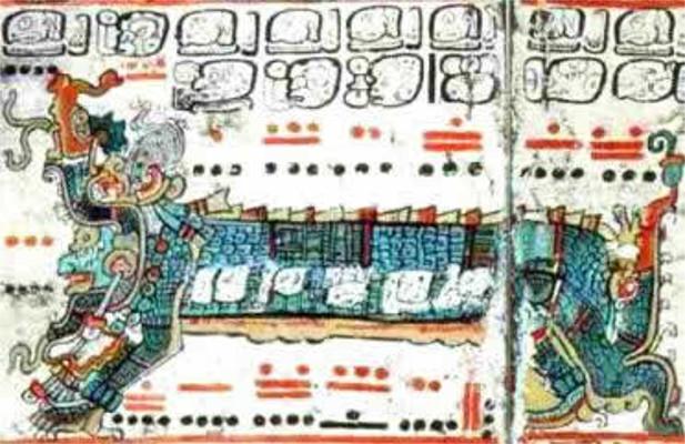 Um fragmento de relatos contidos no Códex de Dresden