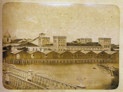 Vista da alfândega de Recife, cidade palco da Insurreição Praieira