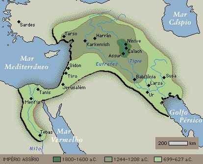 Mapa da Civilização Assíri