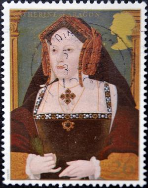 Selo retratando a primeira esposa de Henrique VIII, Catarina de Aragão