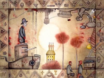 Alegoria da ditadura russa feita por Eugene Ivanov