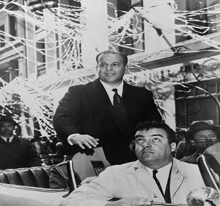 João Goulart em visita aos EUA, em 1962. Anos depois ele formaria a Frente Ampla.*