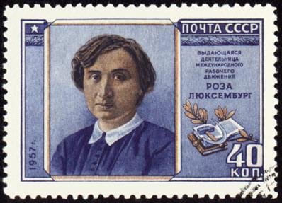 Rosa Luxemburgo foi uma das principais figuras da Revolução Alemã, participando ativamente da Liga Spartacus.*